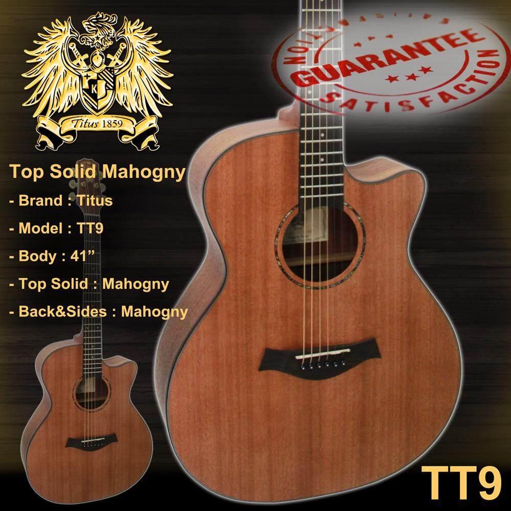 ขาย Titus Guitar กีต้าร์โปร่ง 41 นิ้ว ไม้โซลิดอย่างดี รุ่น Tt9 Titus ใน กรุงเทพมหานคร