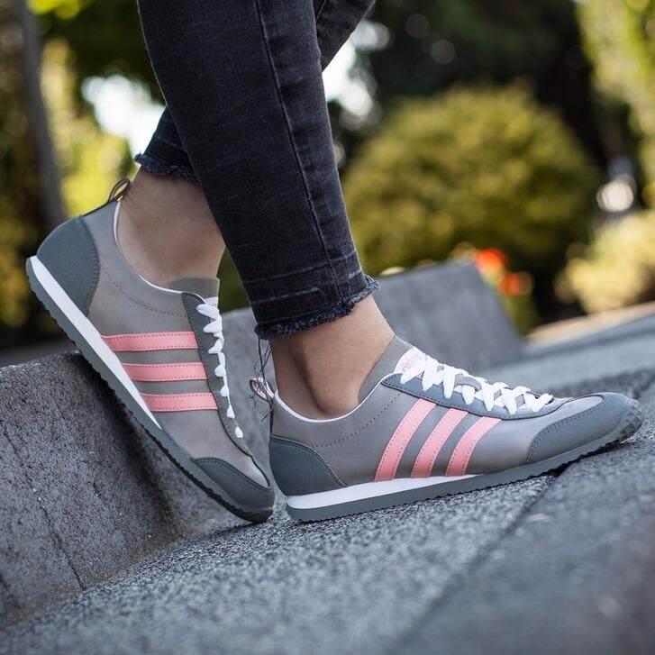 ซื้อ Adidas รองเท้าผ้าใบ ลำลอง แฟชั่น หญิง อาดิดาส Jog Usa Grey Pink รุ่นยอดนิยมสาวหวาน ของแท้100 พร้อมส่ง ส่งด่วน Kerry ใน กรุงเทพมหานคร