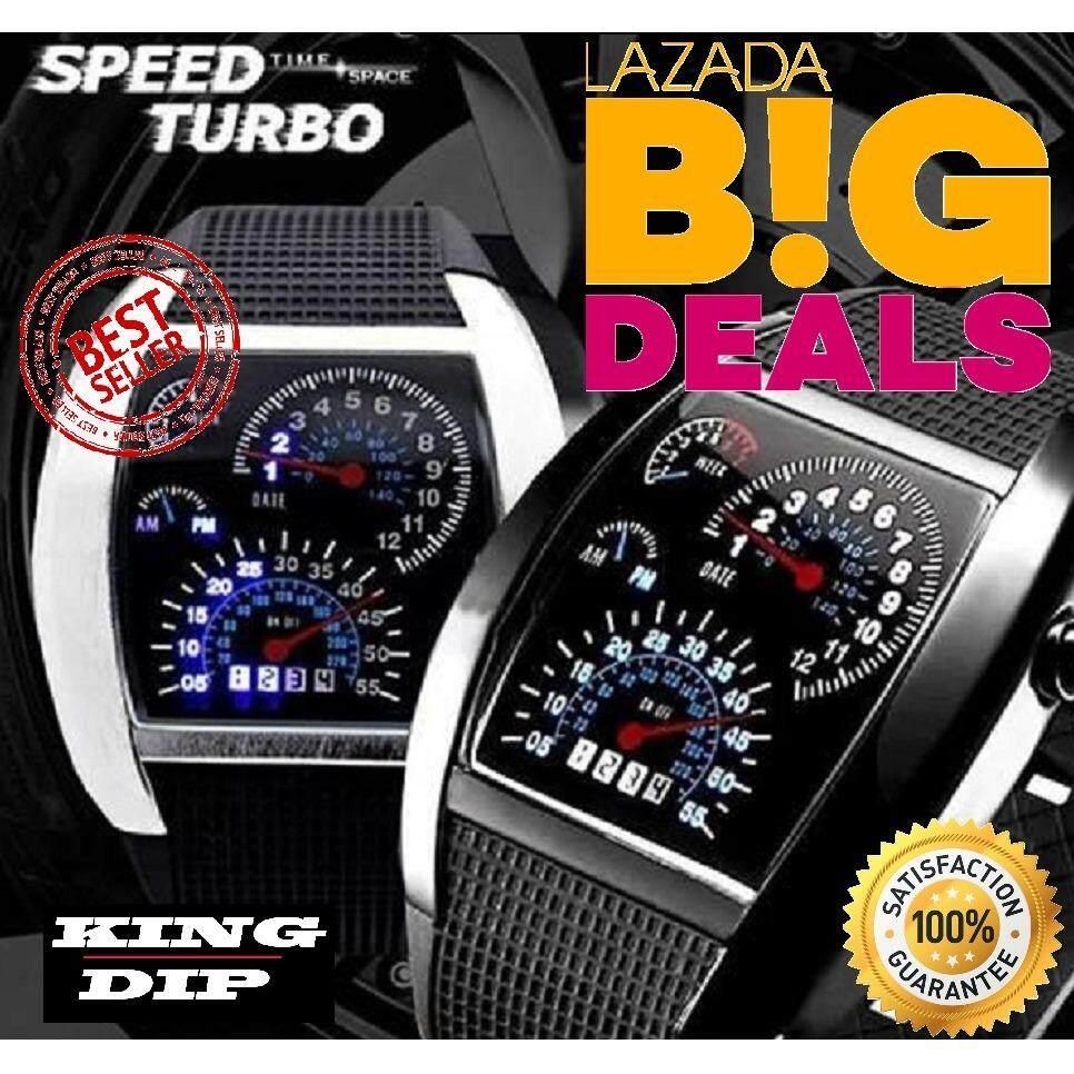Us Rpm Watch Led Top Speed นาฬิกาไฟ Led หน้าจอแบบรถแข่ง 1 เรือน หน้าปัดอลุมิเนียม ใน กรุงเทพมหานคร