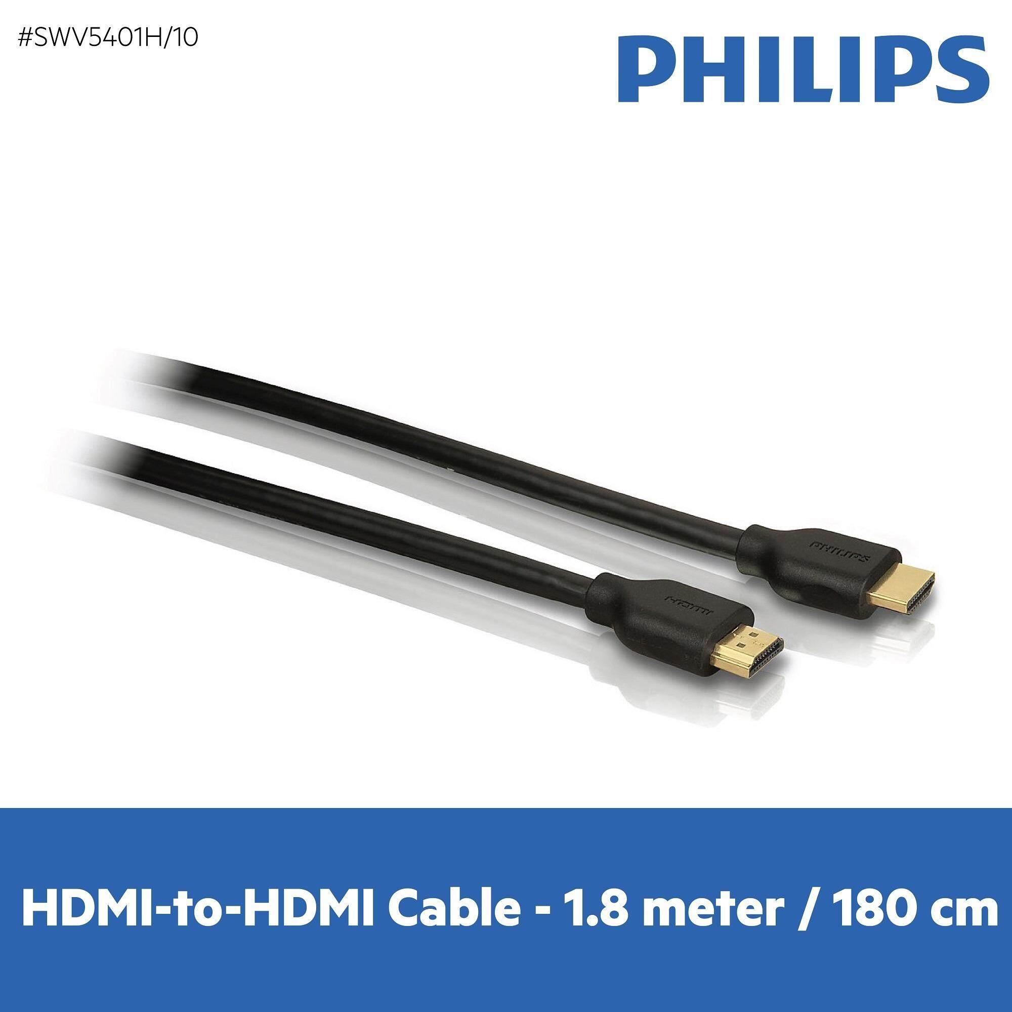 ราคา Philips สายส่งสัญญาณ Hdmi รุ่น Philips Swv5401H 10 Hdmi Cable With Ethernet 1 8 M High Speed Black กรุงเทพมหานคร