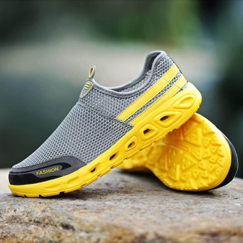 Price Compare Mon Men Casual Shoes Breathable 2018 Summer Shoes Comfortable Men Mesh Sneakers