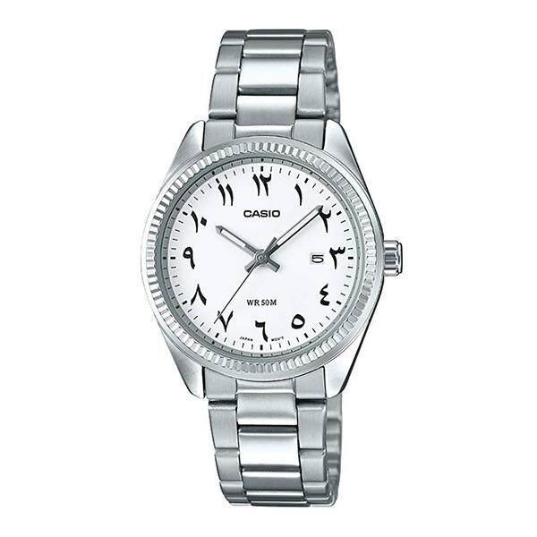 โปรโมชั่น Casio Standard นาฬิกาข้อมือผู้หญิง สายสแตนเลส รุ่น Ltp 1302D 7B3Vdf สีขาว