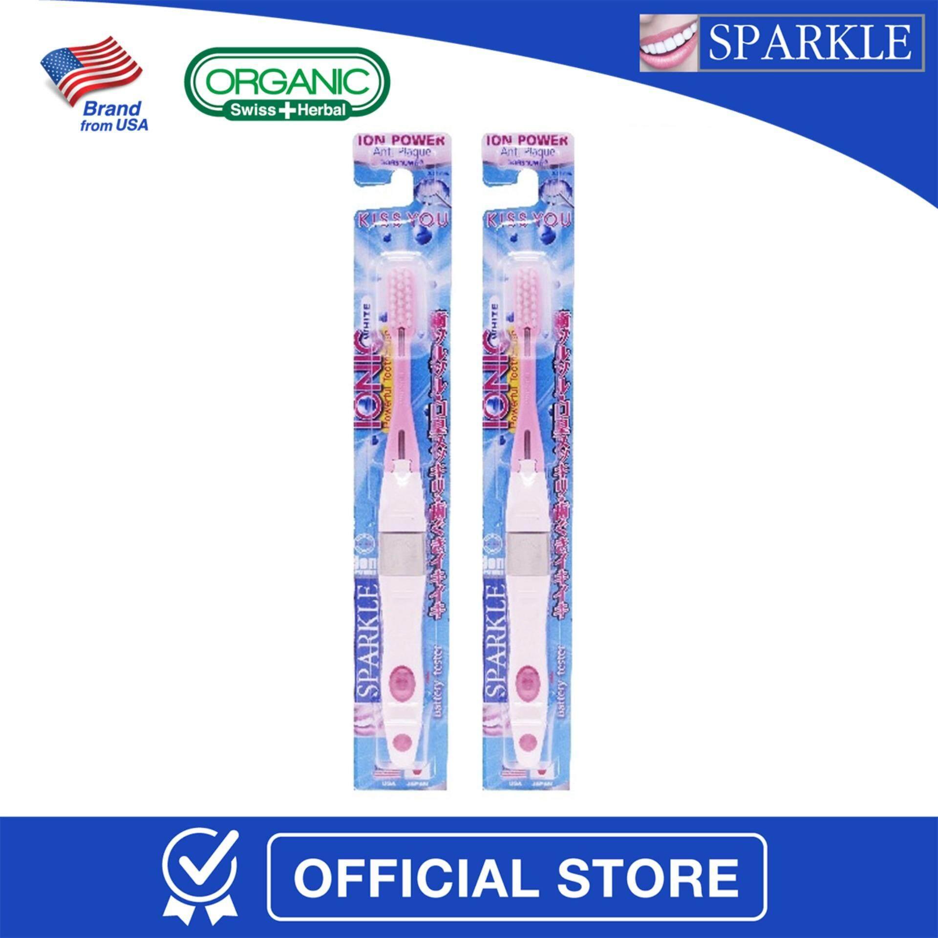 ทบทวน แพ็กคู่ Sparkle Ionic Toothbrush แปรงสีฟัน พลังไอโอนิค สีชมพู Sk0295 Sparkle