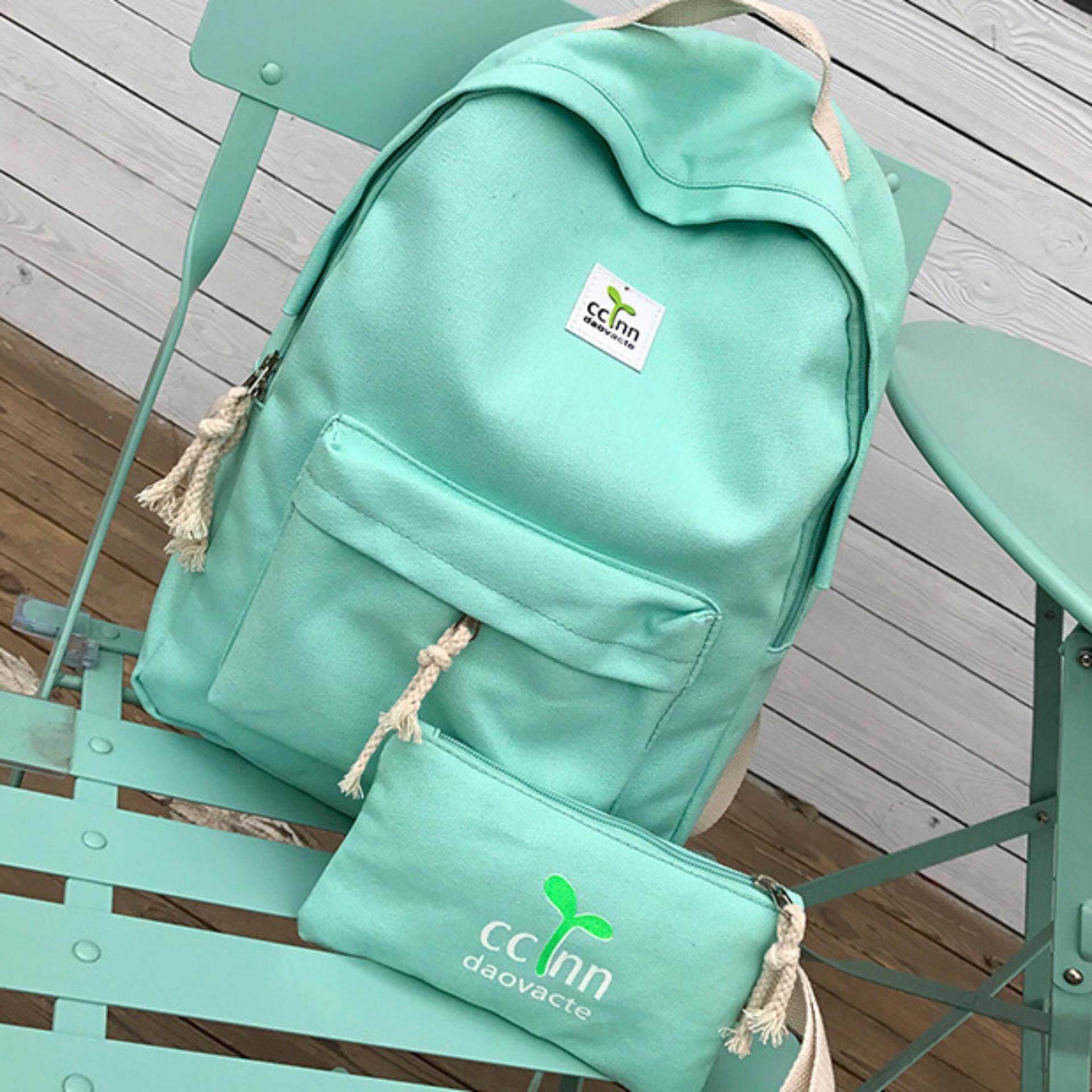 ราคา Lavelle 9256 การออกแบบเกาหลี คุณภาพระดับพรีเมียม แฟชั่น กระเป๋าเป้สะพายหลัง สีเขียว ใหม่