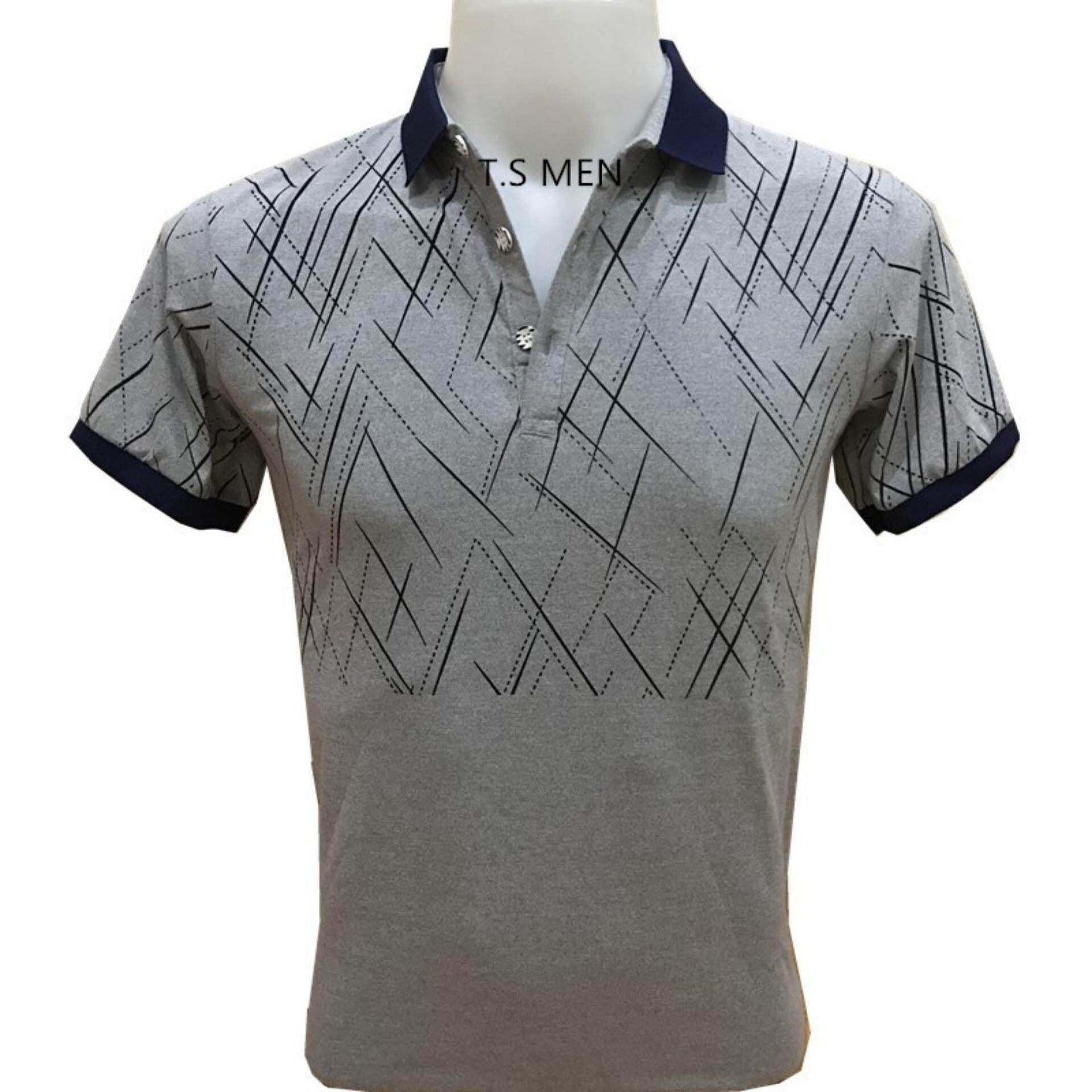 ซื้อ เสื้อยืดผู้ชายMen S T Shirtเสื้อยืดแฟชั่นผู้ชาย Polo Shirtเสื้อโปโล ใน กรุงเทพมหานคร