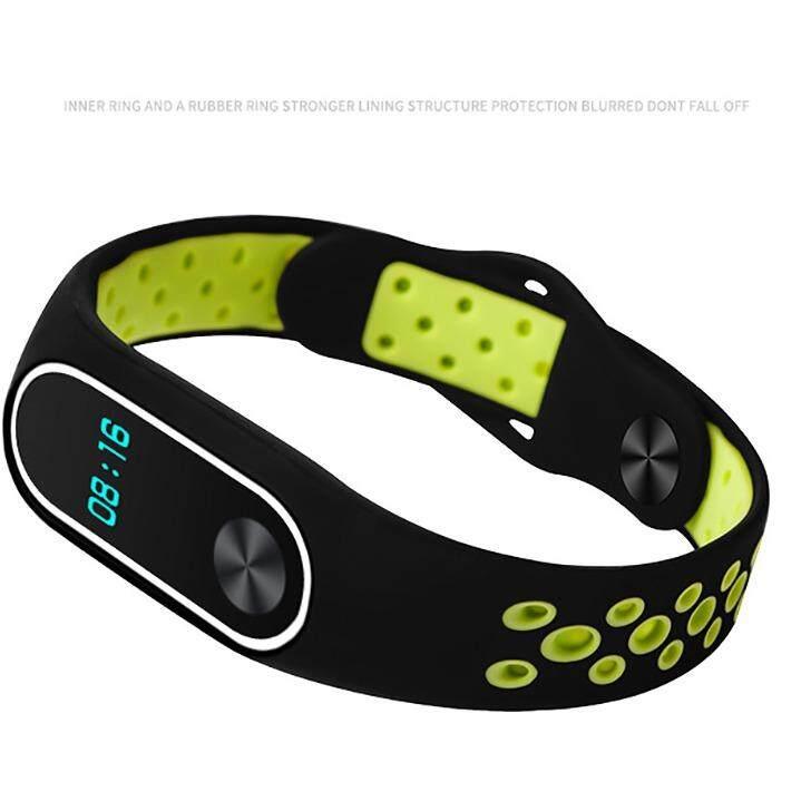 3 สี สายรัดข้อมือสำหรับXiaomi Miband2 Black Green White เป็นต้นฉบับ