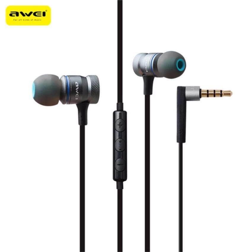 ทบทวน Awei Es 70Ty Universal Earphone Hifi Metal Heavy Bass Wired Earphone With Microphones For Iphone For Huawei Smartphone หูฟังสเตอริโอ หูฟังพร้อมไมโครโฟน Awei