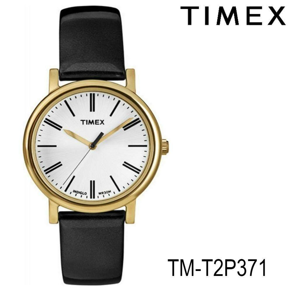 ราคา Timex Tm T2P371 นาฬิกาข้อมือผู้หญิง สายหนัง สีดำ ใน สมุทรปราการ