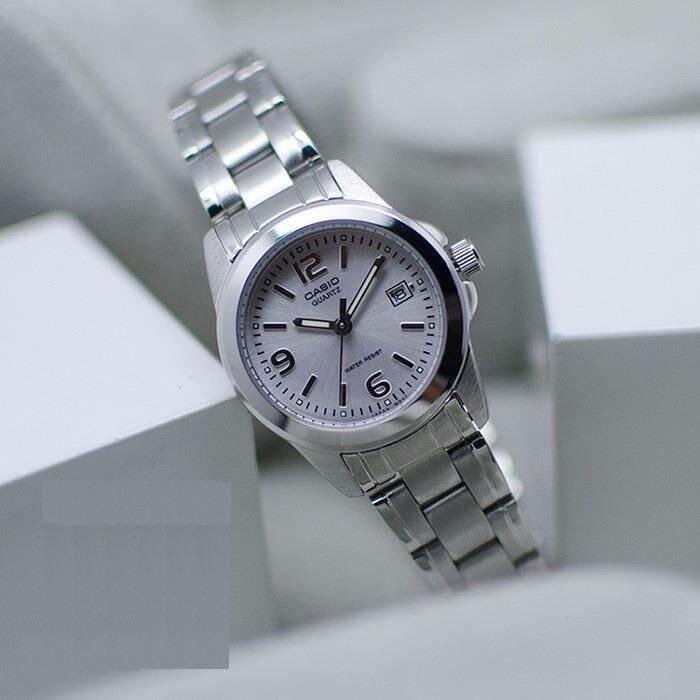 ขาย นาฬิกาสุภาพสตรี สายสแตนเลสสตีล Casio รุ่น Ltp 1215A 7A ขายดี ของแท้ ประกันศูนย์ 1 ปี Casio Standard ถูก
