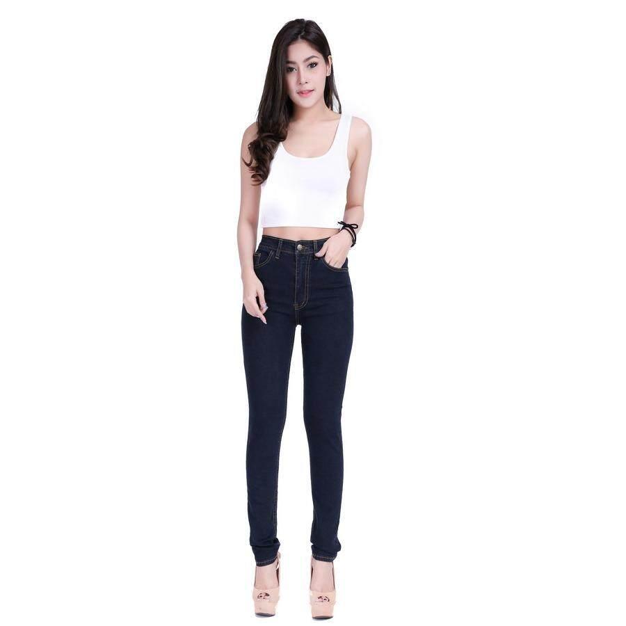 ราคา Eiffel Jeans กางเกงยีนส์ เอวสูง ทรงสกินนี่ ขายาว รุ่น คลาสสิค Emw001 สีกรม ที่สุด