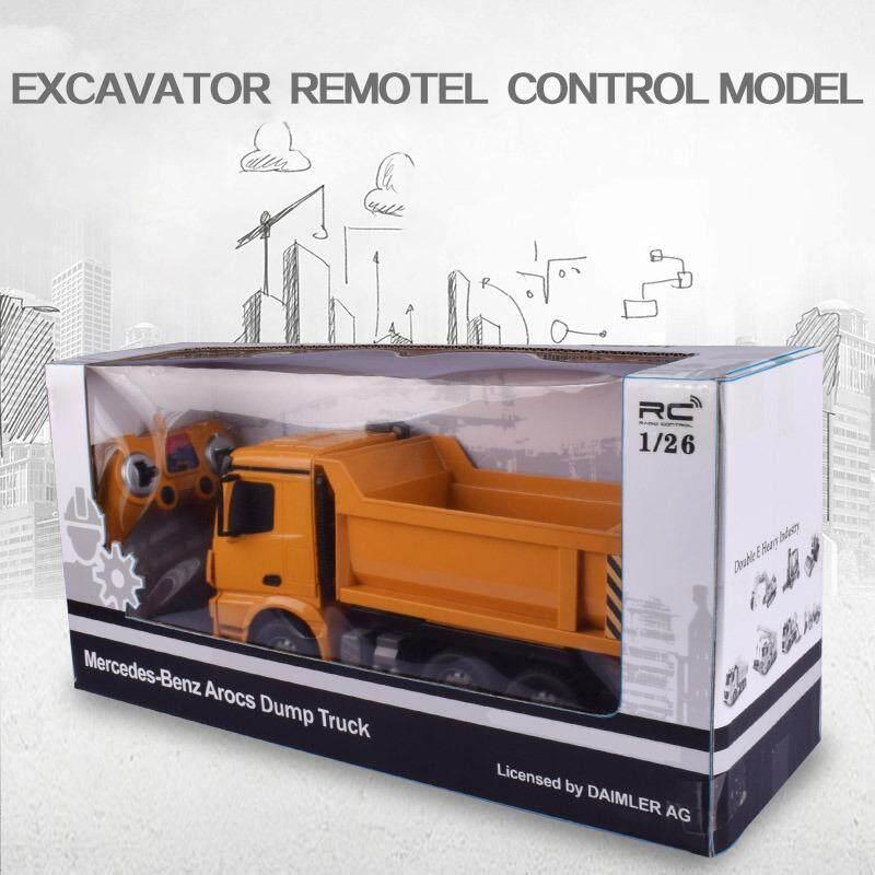 รถดั้มบังคับวิทยุ รถบรรทุกบังคับวิทยุ รถก่อสร้างบังคับ Double Eagle Dump Truck 6 CH ขนาด 1:26
