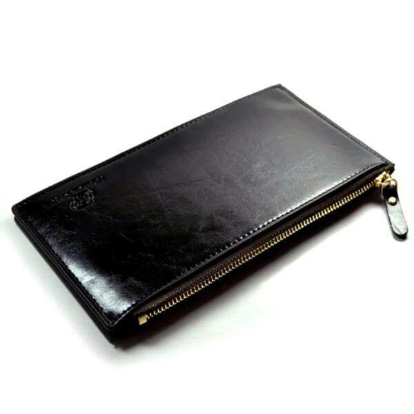 ขาย ซื้อ Trusty กระเป๋าใส่เช็ค กระเป๋าเงิน กระเป๋าหนังแท้ กระเป๋าใบยาว กระเป๋าผู้ชาย Code 059X สีดำ Black