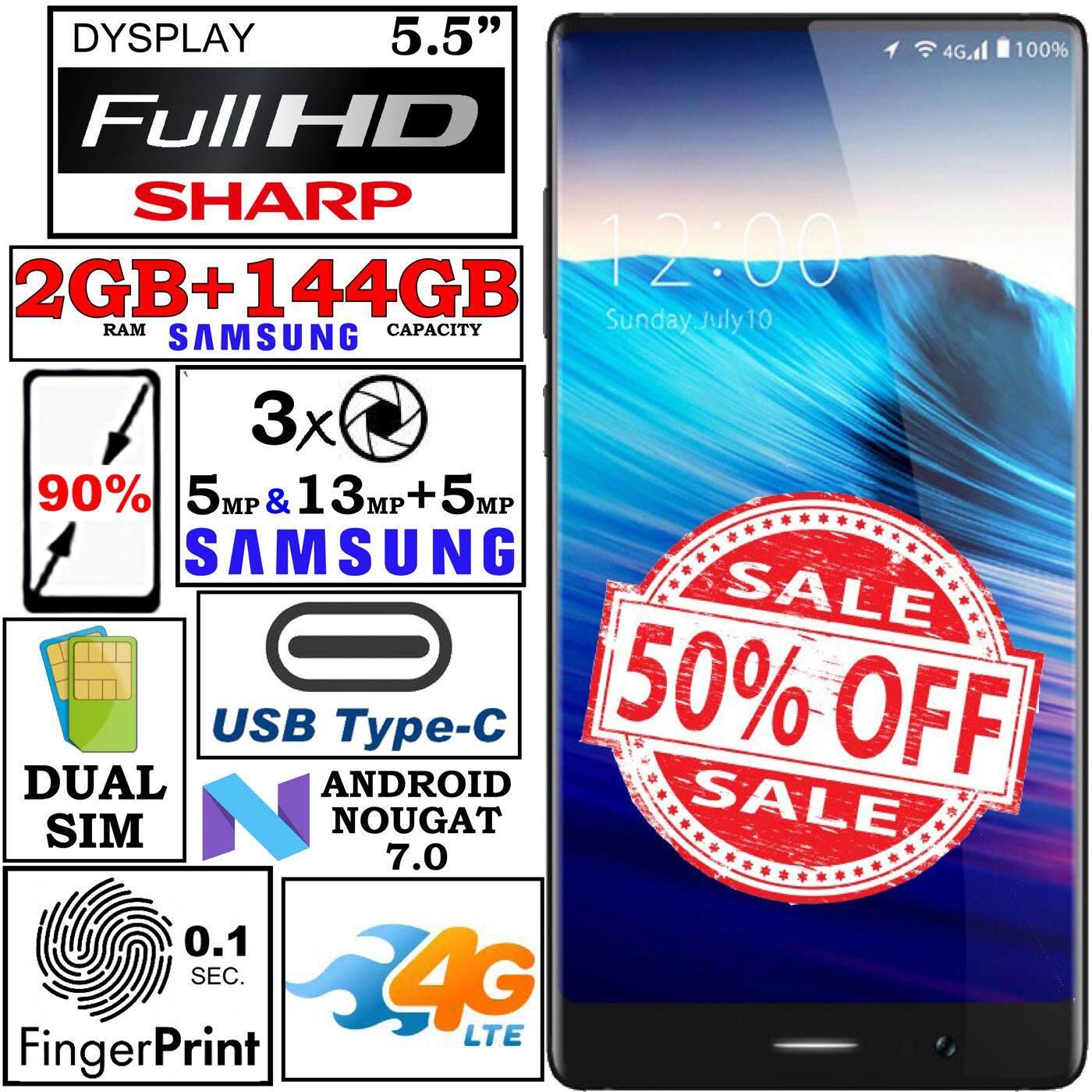 Umidigi Crystal 272Gb 144Gb 2Gb 13Mp 5Mp 5Mp Sony กล้อง ลายนิ้วมือ 4G Lte หน้าจอ Fhd Ips Sharp สีดำ Samsung หน่วยความจำแฟลช Usb Type C Mi Mix 2 เป็นต้นฉบับ