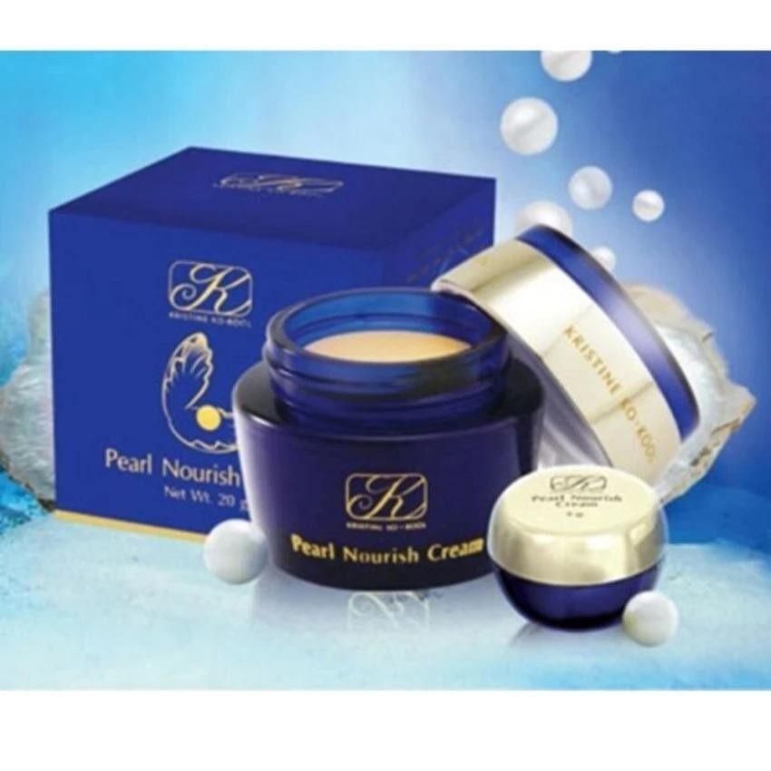 ครีมไข่มุกคังเซน Kristine Ko-kool Pearl Nourish Cream Kangzen บำรุง ปกป้องผิวจากแสงแดด สวยในแบบไร้แป้ง (20 G). กระปุกใหญ่