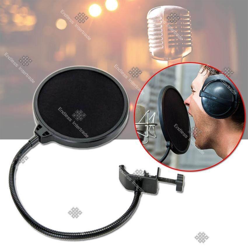 ซื้อ Sinlin ที่กันลม ป๊อปฟิลเตอร์ สตูดิโอไมโครโฟน Studio Microphones Mic Pop Filter Mask Shield Protection รุ่น Mft201 Wu Black ใหม่