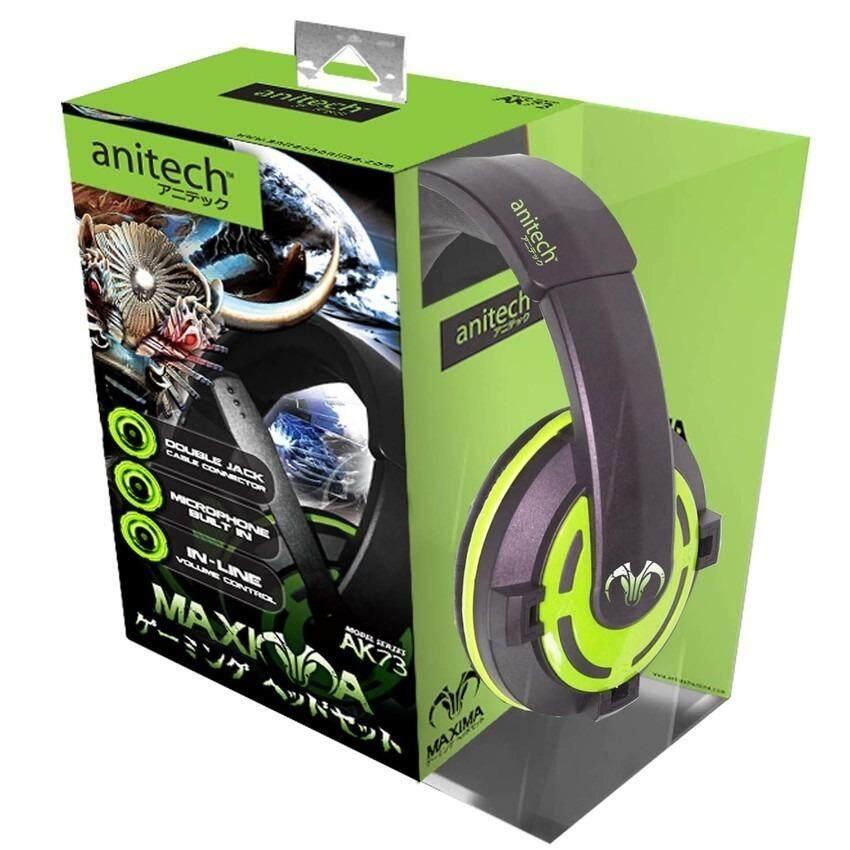 ขาย Anitech หูฟังแบบครอบหู รุ่น Ak73 สีเขียว Anitech เป็นต้นฉบับ