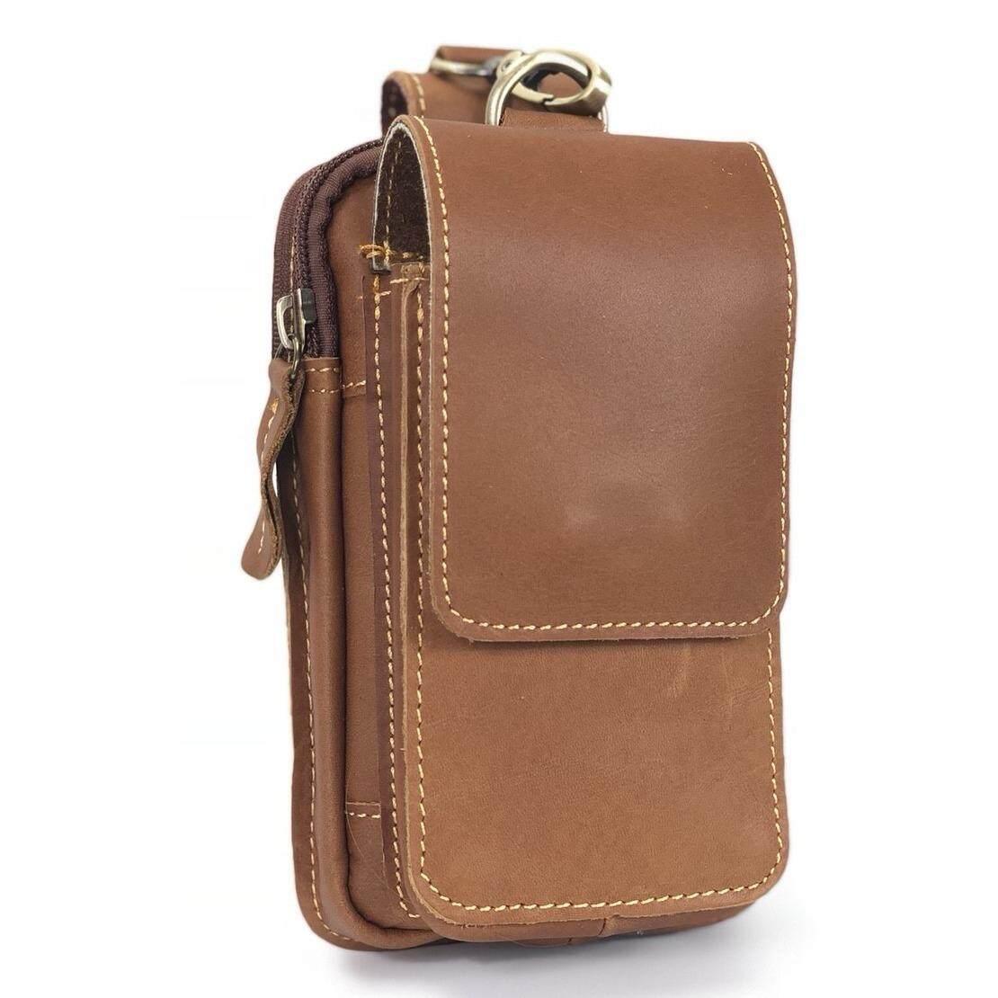 ราคา Chinatown Leatherกระเป๋าหนังแท้ร้อยเข็มขัดใส่มือถือตะขอบนIphone6 7พลัส Chinatown Leather เป็นต้นฉบับ