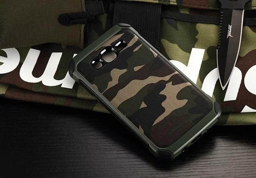 ACT เคส  Samsung Galaxy J2 / J200 / J2 2015  รุ่น Soldier Series ชนิด ฝาหลัง กันกระแทก  ด้านนอก แข็ง ด้านใน นิ่ม  สีเขียว