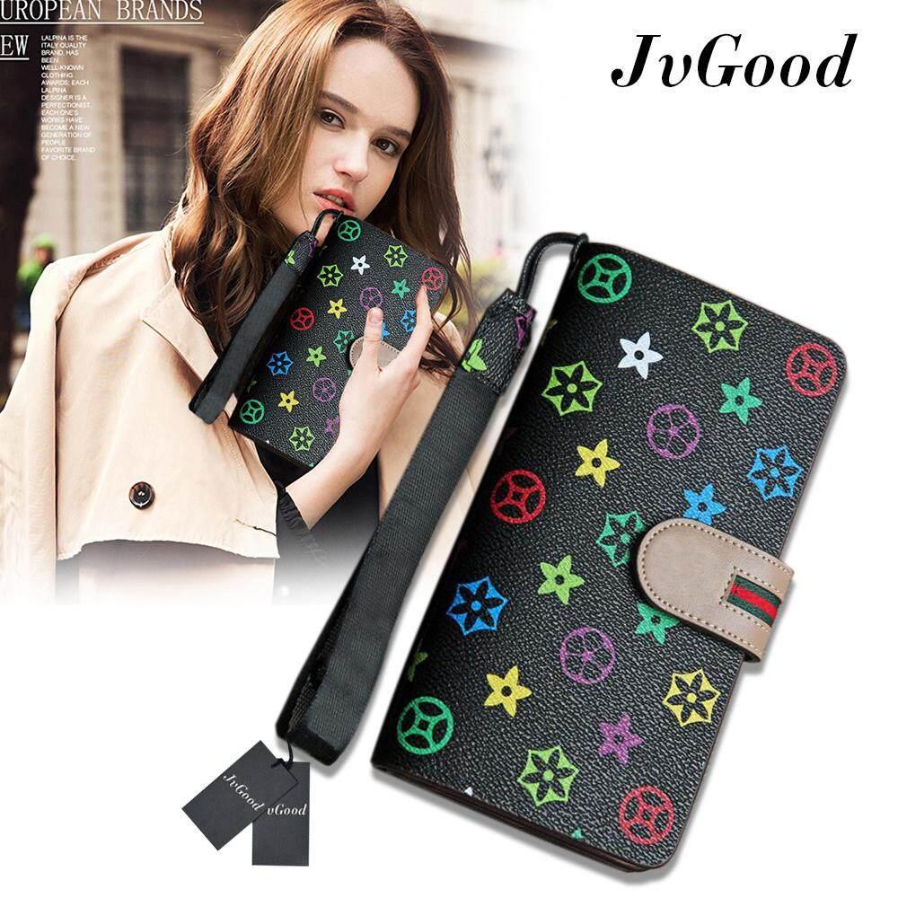 ขาย Jvgood กระเป๋าสตางค์ใบยาว กระเป๋าเงินผู้หญิง กระเป๋าสตางค์ ผู้หญิง รุ่น Fashion Women Leather Wallet Jvgood ถูก