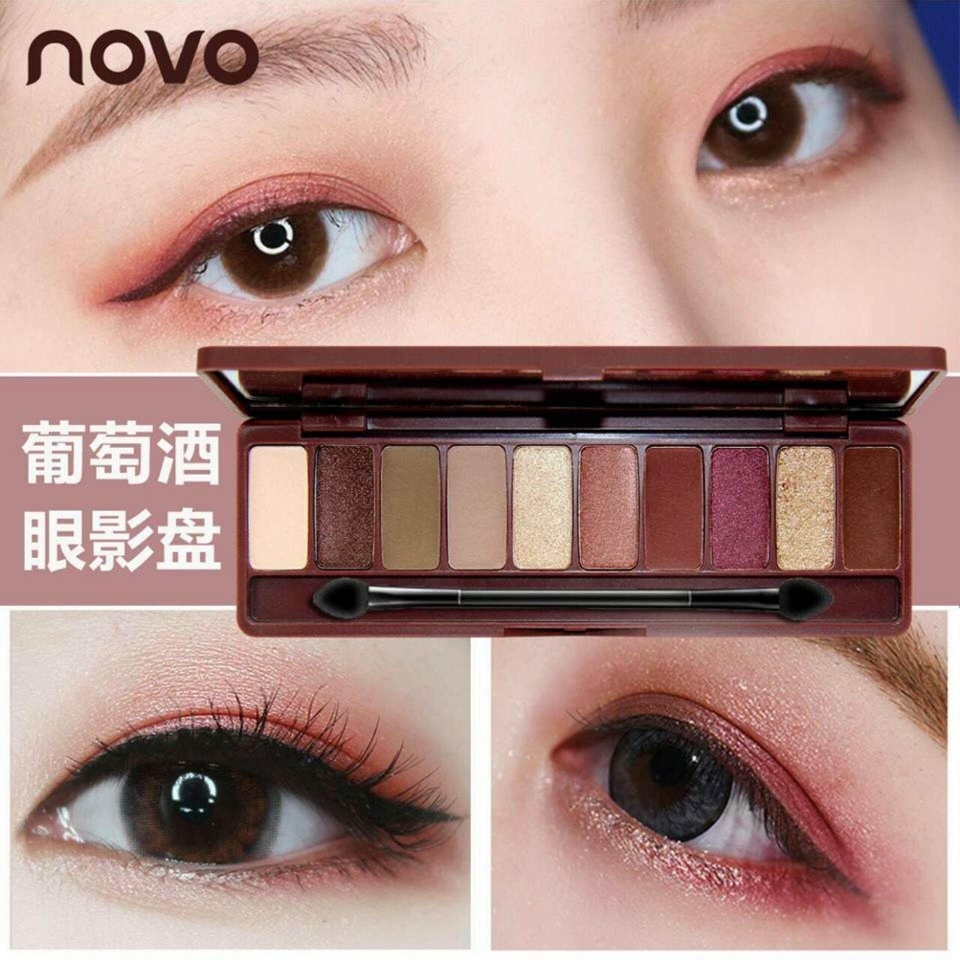 ราคา Novo Play Color Eyeshadow Palette อายแชโดว์ 10 สี ในตลับเดียว 1 ตลับ Lemony Shop เป็นต้นฉบับ