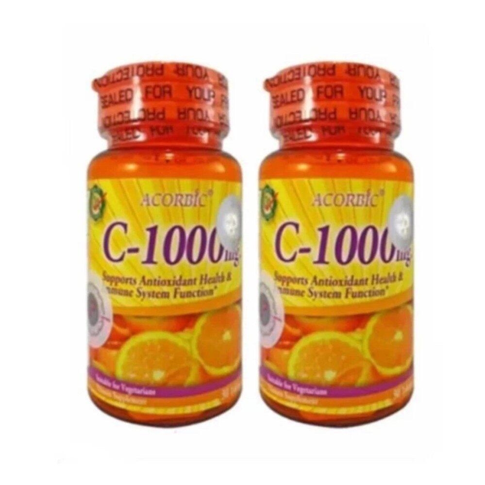 ซื้อ Acorbic Vitamin C 1000Mg ผลิตภัณฑ์เสริมอาหาร วิตามินซี บรรจุกระปุกละ 30 เม็ด 2 กระปุก Acorbic ออนไลน์