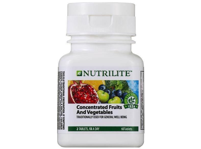 ซื้อ Nutrilite Concentrated Fruits And Vegetables 60 Tab นิวทริไลท์ ผักและผลไม้รวมเข้มข้น ขนาด 60 เม็ด สินค้านำเข้าจากมาเลย์