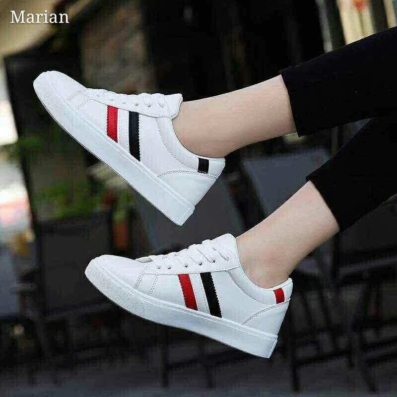 ทบทวน Marian รองเท้าผ้าใบผู้หญิง รองเท้าแฟชั่น No A009 สีขาว Marian