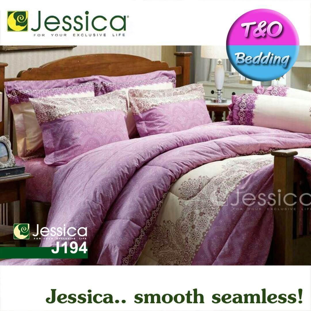 Jessica ชุดผ้าปู ผ้านวม 6 ฟุต 6 ชิ้น พิมพ์ลาย Print Jessica2018 4 Jessica ถูก ใน ไทย
