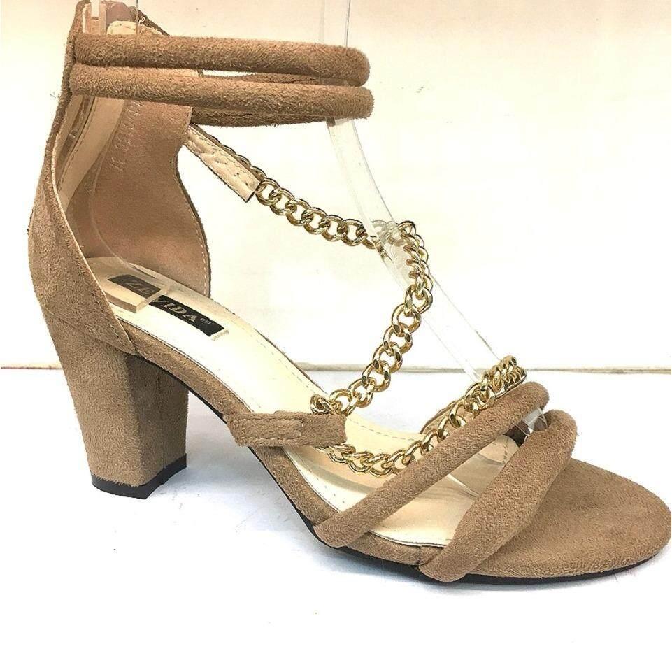 ราคา รองเท้าส้นสูงรัดข้อ ใส่สบายนุ่ม สุง3นิ้ว สีครีม Zevida เป็นต้นฉบับ
