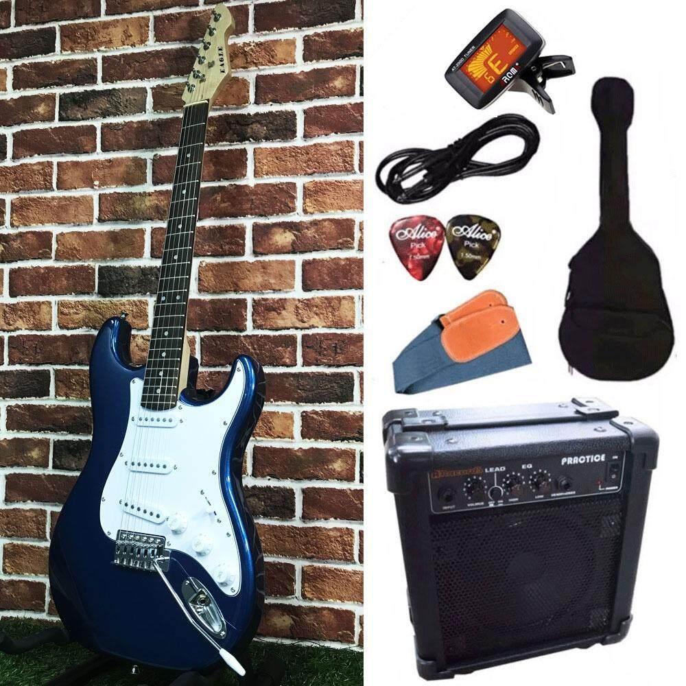ความคิดเห็น Eagle กีตาร์ไฟฟ้า Electric Guitar Stratocaster รุ่น E 30Bl และ อุปกรณ์กีตาร์ พร้อมตู้แอมป์