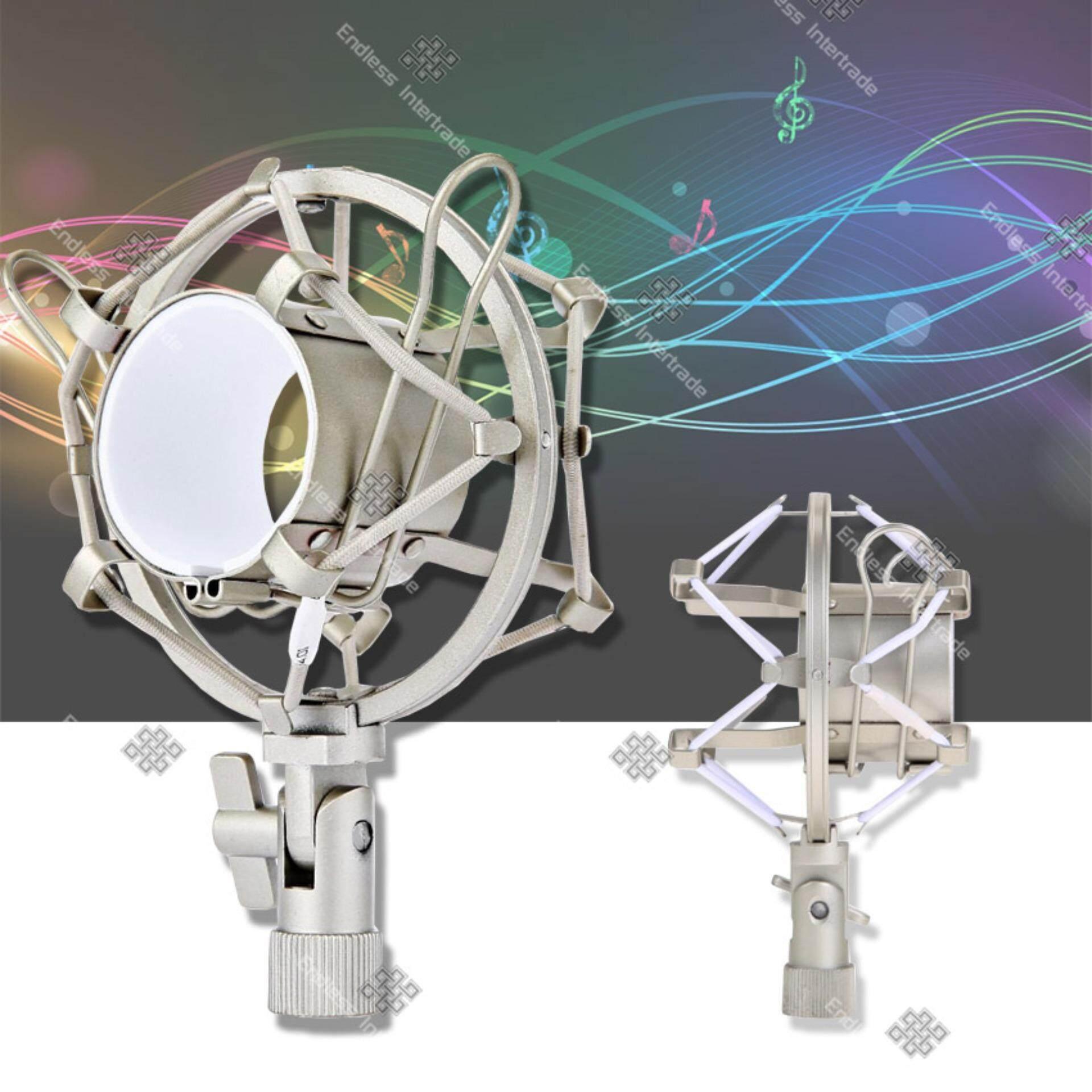 ซื้อ Sinlin Silver Microphone Mic Shock Mount อุปกรณ์ป้องกันเสียงรบกวน ป้องกันการสั่นสะเทือน ขณะอัดเสียง รุ่น Smh460 We Sinlin ถูก