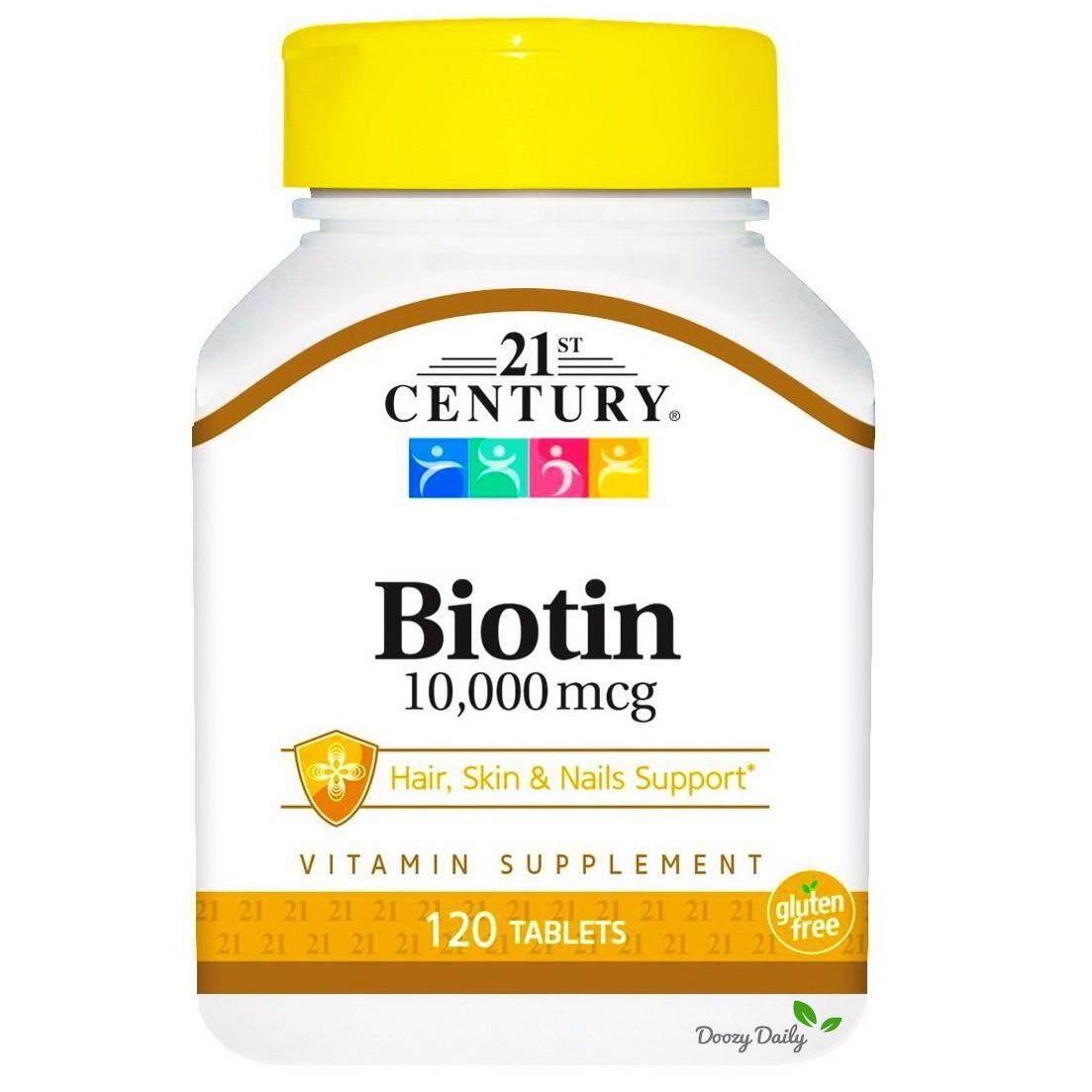 ซื้อ 21St Century Biotin 10 000 Mcg X 120 เม็ด ไบโอติน วิตามิน เส้นผม ผิวหนัง เล็บ แคลเซียม ถูก