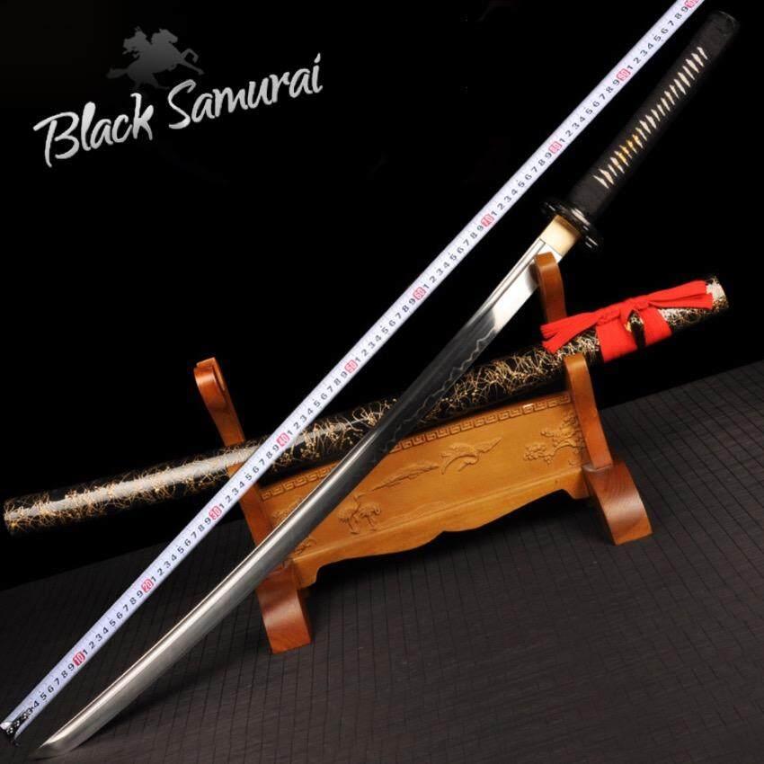 ราคา Genuine Scorpion ดาบซามูไร Katana T10 ฮามอนแท้ ลับคมแล้ว เคลือบเงา ฝักดาบไม้เนื้อแข็ง ถูก