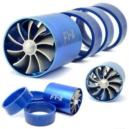ราคา F1 Z Turbo Power Faster พัดลม 2 ใบพัด สำหรับใส่ท่อกรองอากาศ เพิ่มอัตราเร่ง เพิ่มสมรรถนะ ประหยัดน้ำมัน ทำให้รถวิ่งเร็วขึ้น ติดตั้งง่าย สินค้านำเข้าพรีเมี่ยม ของแท้ 100 สีน้ำเงิน ถูก
