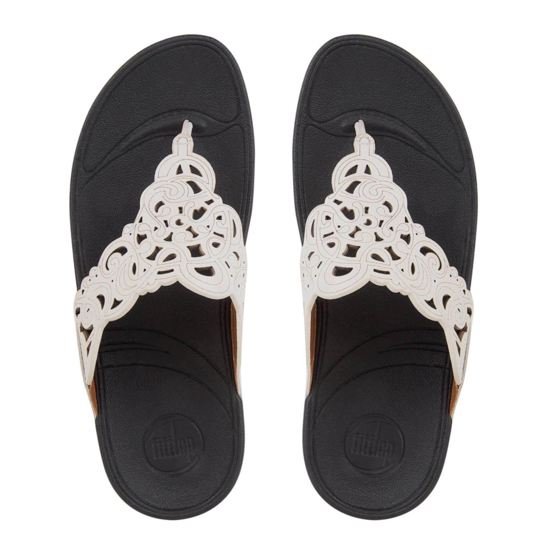 ซื้อ Fitflop รองเท้าแตะหญิง Flora สี 194 Urban White