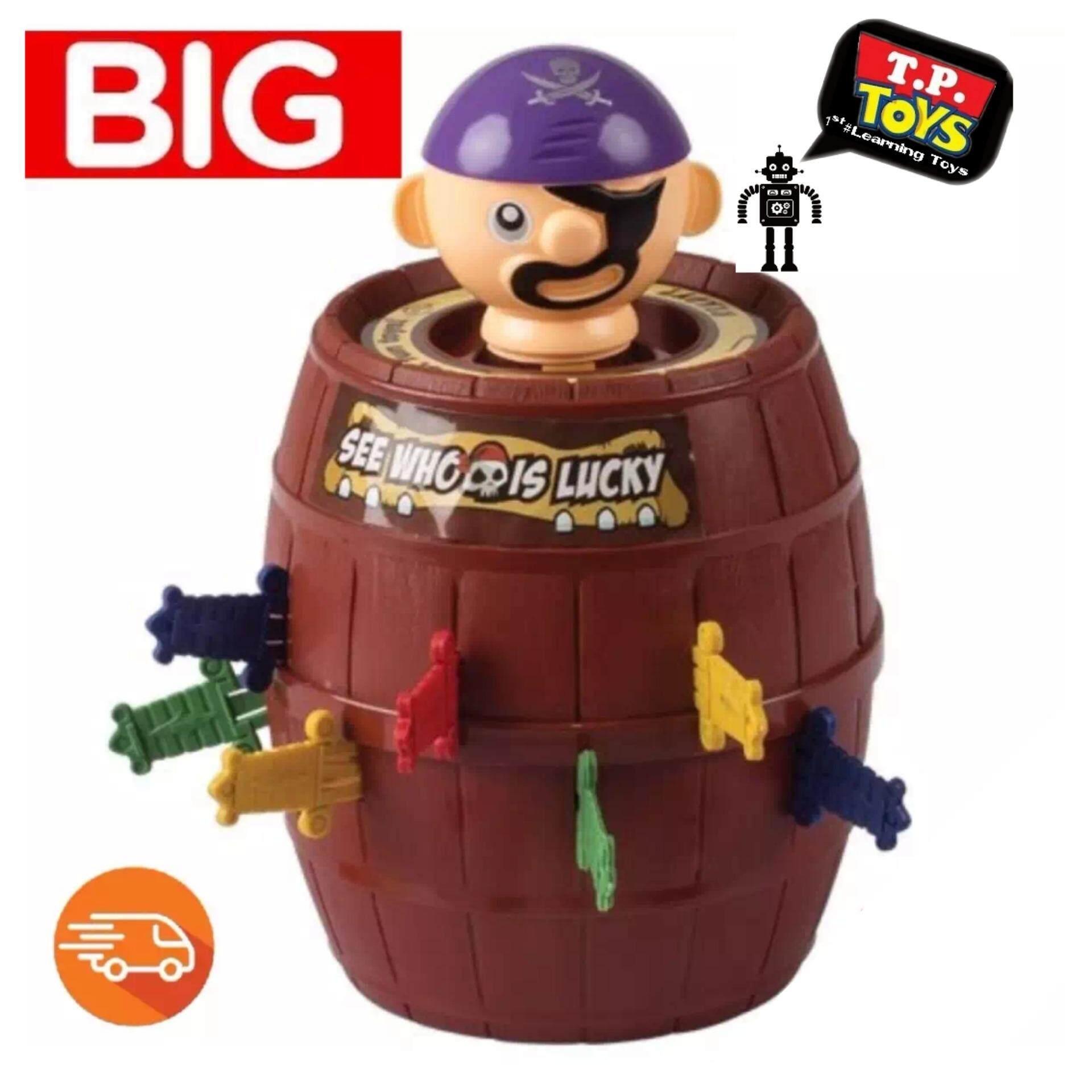 ราคา T P Toys เกมส์เสี่ยงดวงเสียบถังโจรสลัดถัง Big รูเล็ต 2 In 1 คละสี ใหม่ ถูก