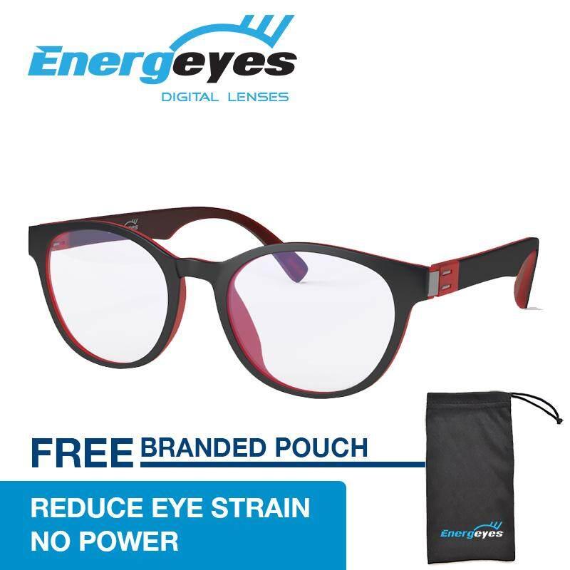 ความคิดเห็น Energeyes แว่นตาคอมพิวเตอร์ Protect Eyes และตัดแสงสีฟ้าโดย 50 ผู้ใหญ่รอบสีดำด้านหน้าและด้านหลัง Cheery กลับสีแดง นานาชาติ