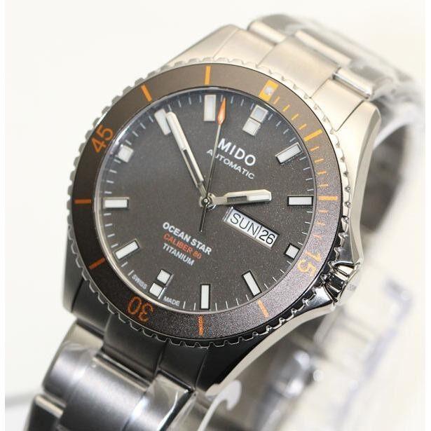ราคา นาฬิกา Mido Ocean Star Titanium Diver S 200 M M026 430 44 061 00 New ใหม่ล่าสุด