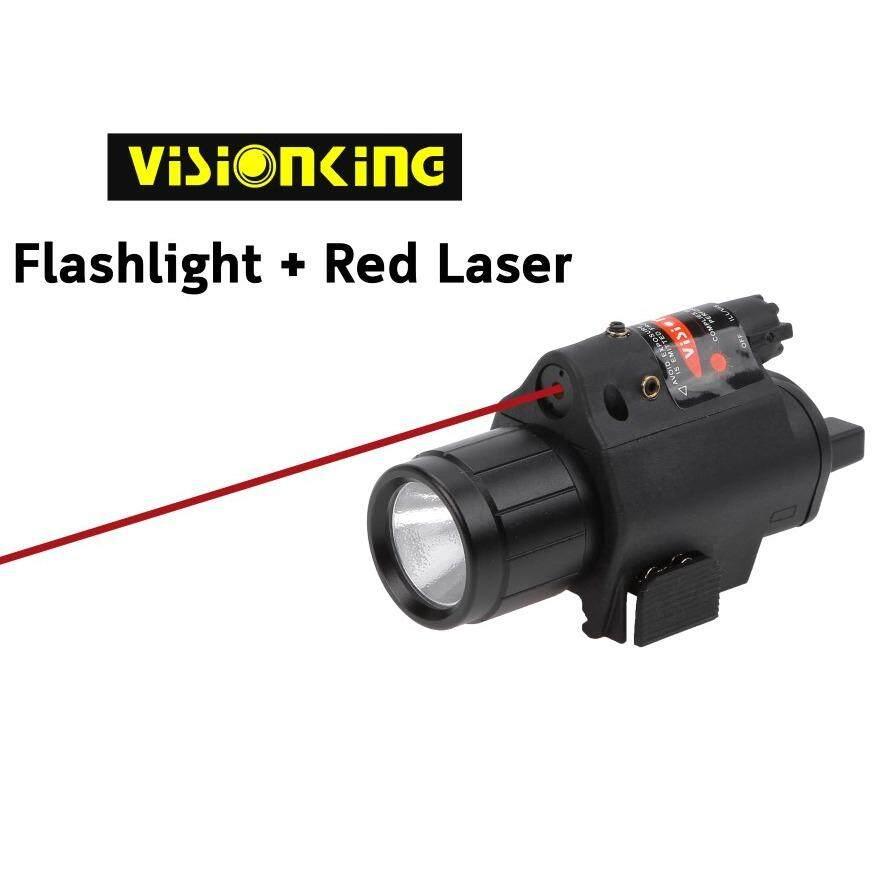 ViSionKing ไฟฉาย เลเซอร์แดง ติดปืนสั้น ปืนยาว จับราง