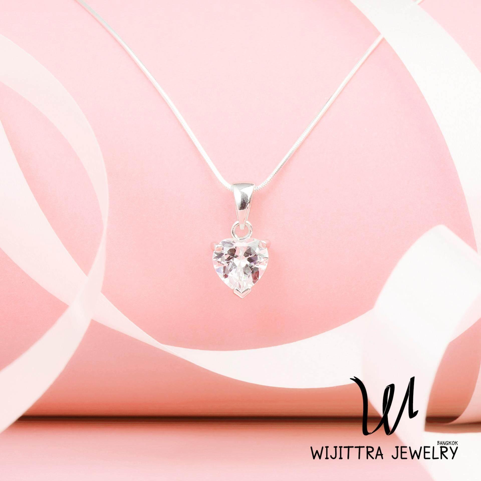 ขาย Venus Wijittra Jewelry สร้อยคอเงินแท้ 925 จี้เพชรสวิส Cubic Zirconia ชุบด้วยโรเดียม พร้อมกล่องเครื่องประดับ High End Octagonal Snake ปรับสายได้ 16 18 นิ้ว ใน กรุงเทพมหานคร
