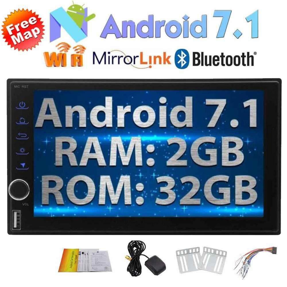 ซื้อ 7 นิ้ว Android 7 1 Double Din In Dash วิทยุ Octa Core เครื่องรับสัญญาณวิดีโอรถยนต์ Am วิทยุ Fm 2 กิกะไบต์ Ram 32 กิกะไบต์ Rom Bluetooth Wifi Gps ระบบนำทางสนับสนุนด้านหลังหรือด้านหน้ากล้อง 3 กรัม 4 กรัม Obd2 ออนไลน์ ถูก