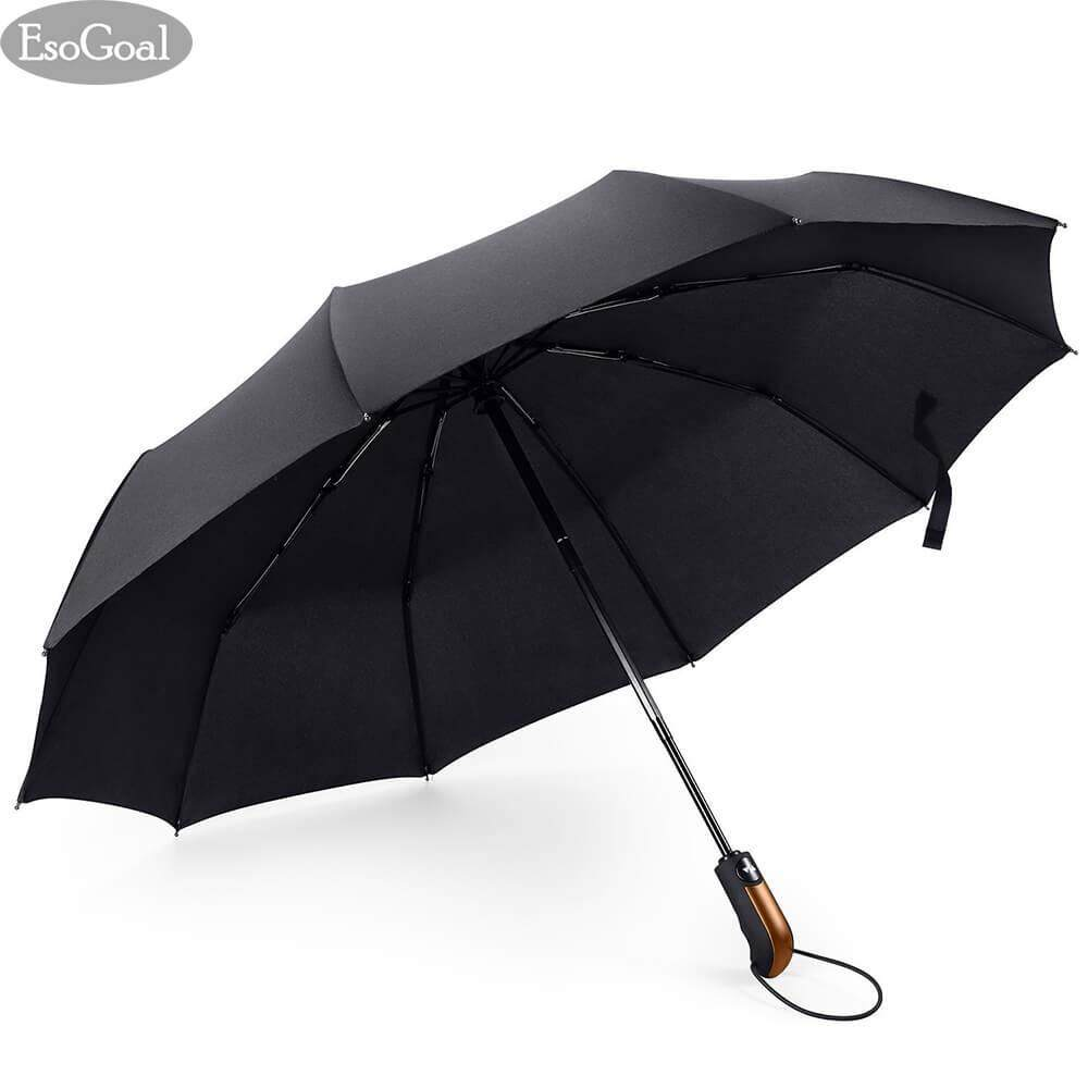 ซื้อ Esogoal Travel Umbrella 10 Ribs Outdoor Umbrella Finest Windproof Rain Umbrella With Teflon Coating Auto Open Close And Upgraded Comfort Handle ออนไลน์ ถูก