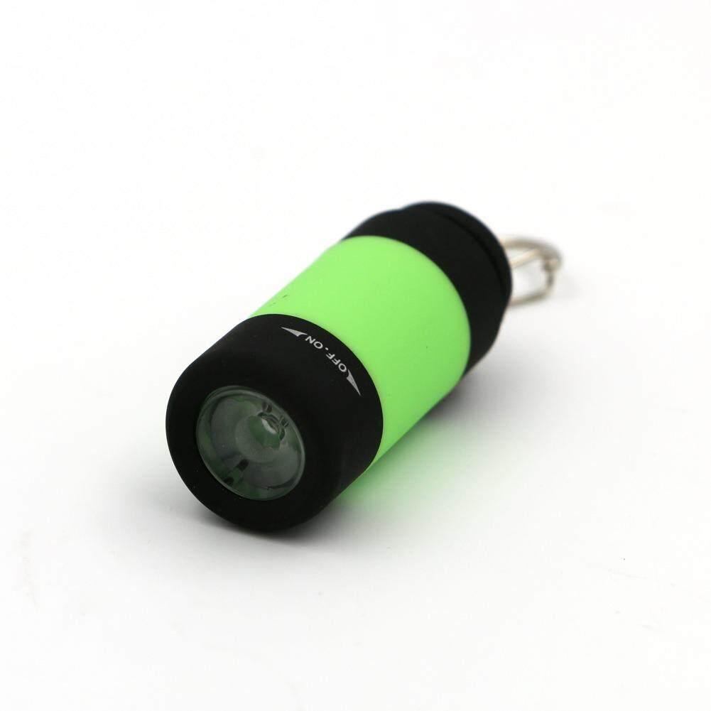 โปรโมชั่น พวงกุญแจไฟฉาย ชาร์ไฟด้วยหัว Usb น่ารักน่าใช้ สีเขียว