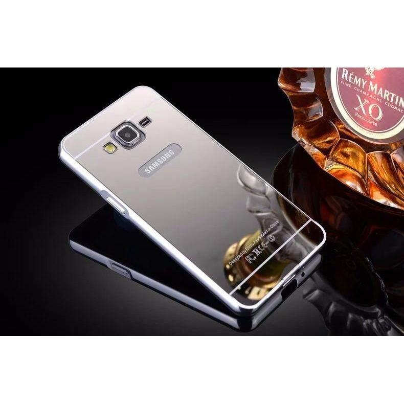ขาย ซื้อ Case Samsung Galaxy J2 Primeเคสกระจก เคสซัมซุงNew Bumper Mirror Case 2 In 1 Gold 18K 24K Aluminium Mirorขอบอลูมิเนียม สินค้าใหม่