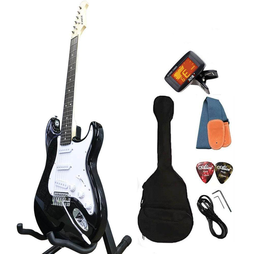ทบทวน ที่สุด Eagle กีตาร์ไฟฟ้า Electric Guitar Stratocaster รุ่น E 30Bk และ อุปกรณ์กีตาร์
