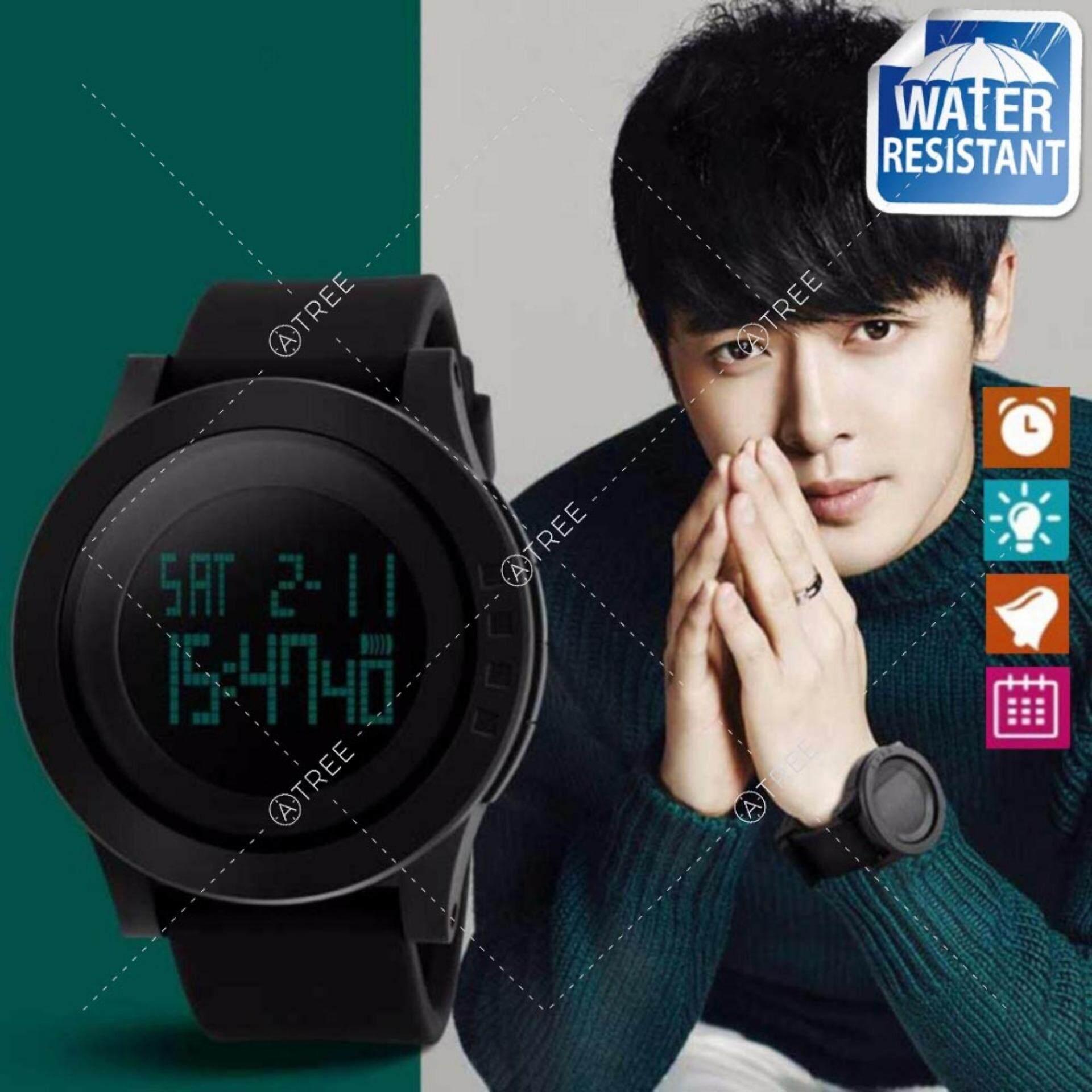 ขาย Skmei ของแท้ 100 ส่งในไทยไวแน่นอน นาฬิกาข้อมือผู้ชาย สไตล์ Sport Digital Watch บอกวันที่ ตั้งปลุก จับเวลา ตัวเลข Led ใหญ่ ชัดเจน กันน้ำ สายเรซิ่นสีดำ รุ่น Sk M1142 สีน้ำเงิน Blue Skmei ผู้ค้าส่ง