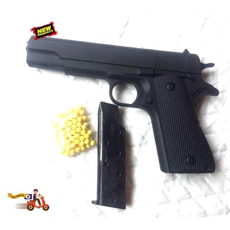 ปืนอัดลม GUN แอร์ซอฟพร้อมลูกพลาสติก เหมาะสำหรับฝึกยิง ซ้อมยิงยิงเป้ากระดาษ