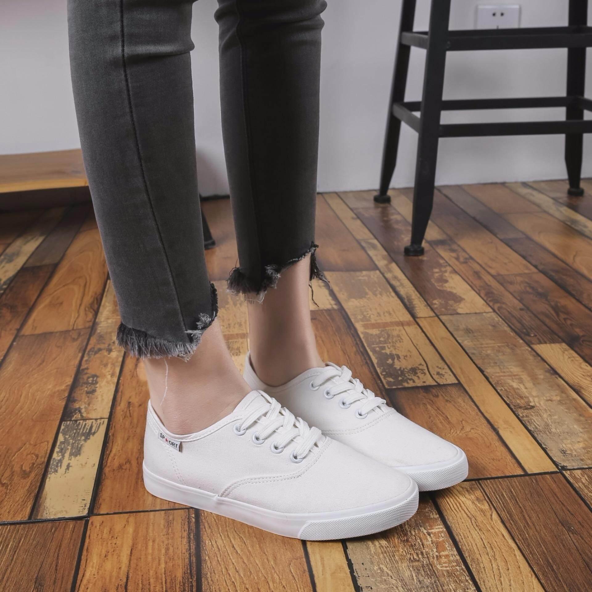 ทบทวน You Shoes รองเท้าผ้าใบผู้หญิง รุ่น 2655 สีขาว Unbranded Generic