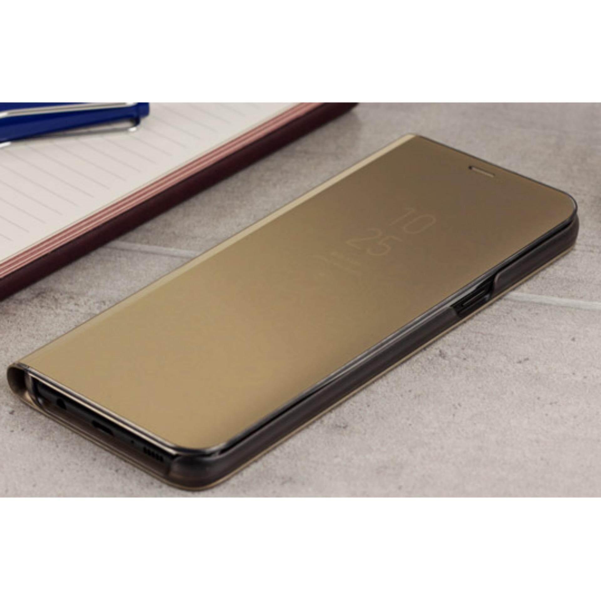 ขาย เคสฝาพับ กระจกซัมซุง โน้ต 5 Clear View Standing Cover Samsung Galaxy Note 5 สีทอง Unbranded Generic ถูก