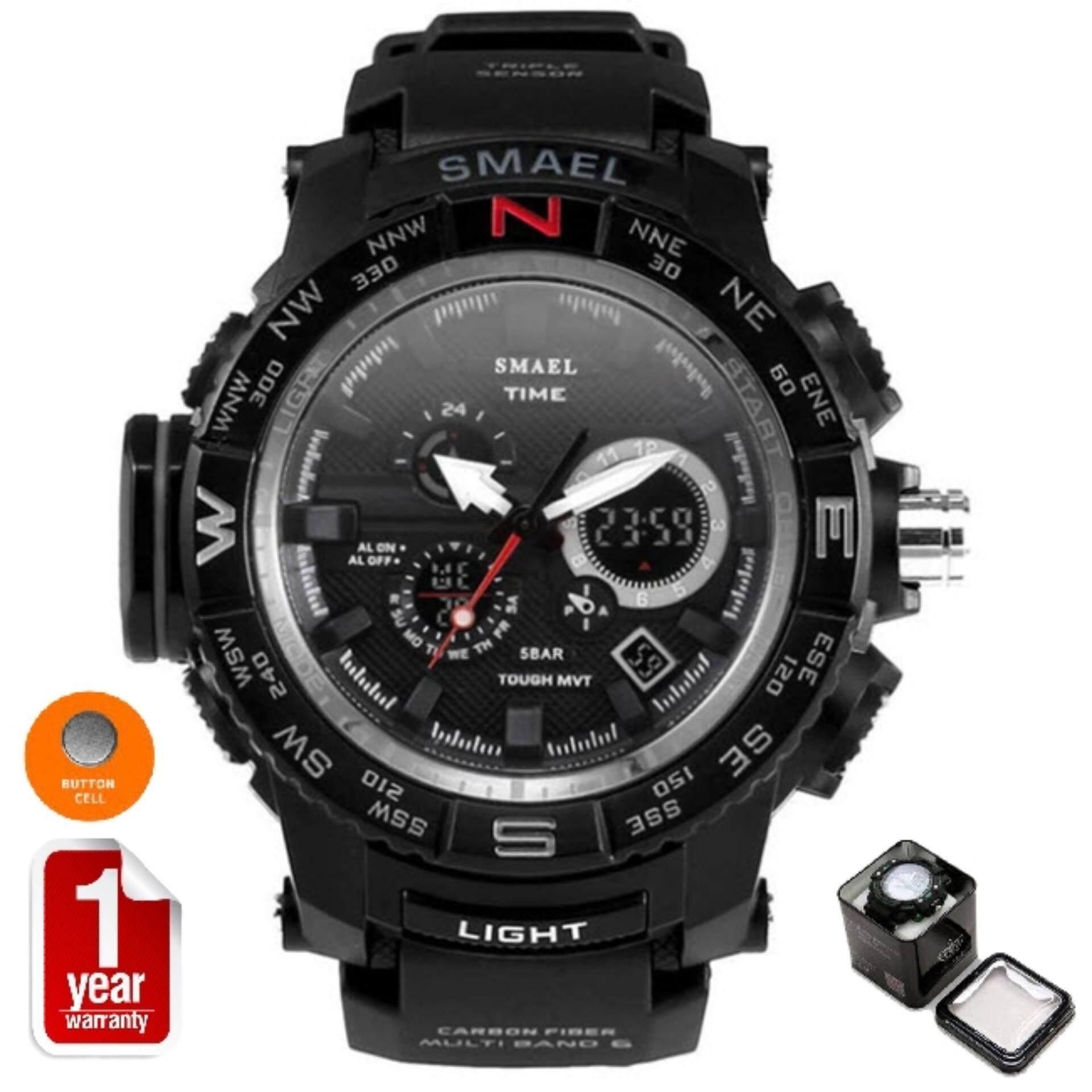 ซื้อ Smael นาฬิกาข้อมือผู้ชาย Sport Digital Led รุ่น Sm1531 Black ถูก ใน สมุทรปราการ